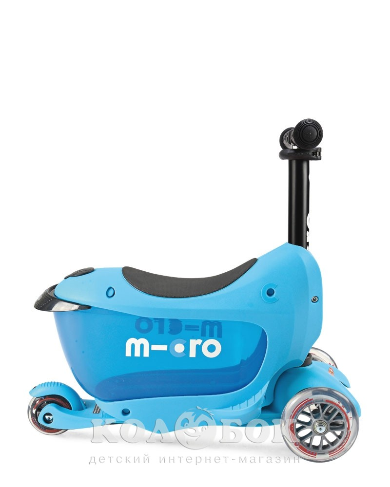 Самокат Mini Micro 2go  Deluxe Plus Blue - 11441