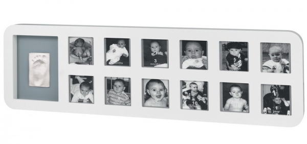 Рамка Baby Art 1st Year Print Frame white grey - 425