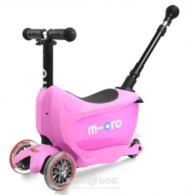 Самокат Mini Micro 2go  Deluxe Plus Pink  - 11440