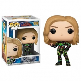 Фигурка Funko Pop Фанко Поп Капитан Марвел в неоновом костюме Captain Marvel Neon Suit 10 см Movies CM CM 516  - 60825