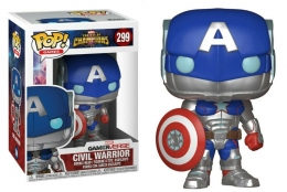 Фигурка Funko Pop Фанко Поп Captain America Капитан Америка Contest of Champions Civil Warrior 10см КА CW 299  - 61860