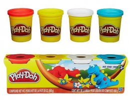Набор пластилина из 4х банок по 112 г (в ассорт.) Play-Doh Hasbro  - 6808
